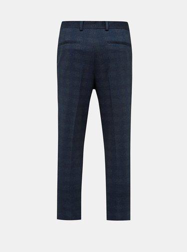 Modré zkrácené slim fit kahoty Selected Homme New Jersey