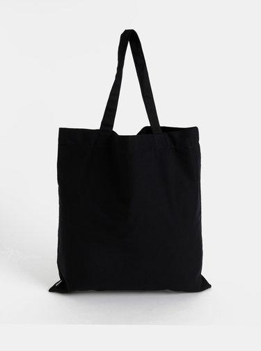 Černá plátěná taška Design Letters
