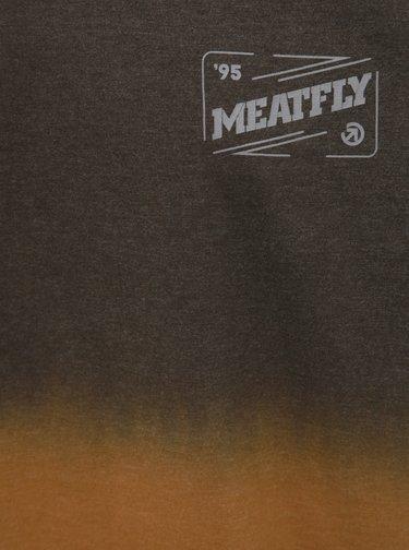 Hnědé pánské tričko Meatfly Slash