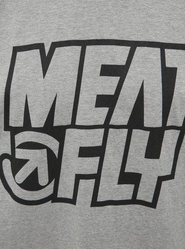 Šedé pánské tričko s potiskem Meatfly Repash