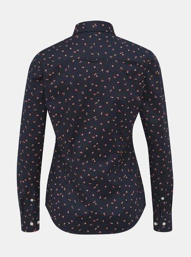 Tmavomodrá dámska vzorovaná košeľa GANT