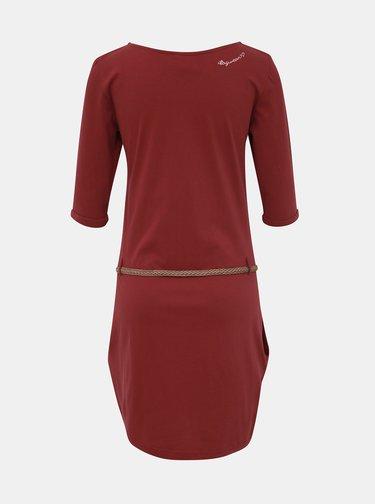 Vínové šaty Ragwear Tanya Solid