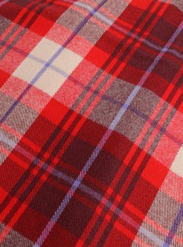 Červený kockovaná šál Pieces Harriet