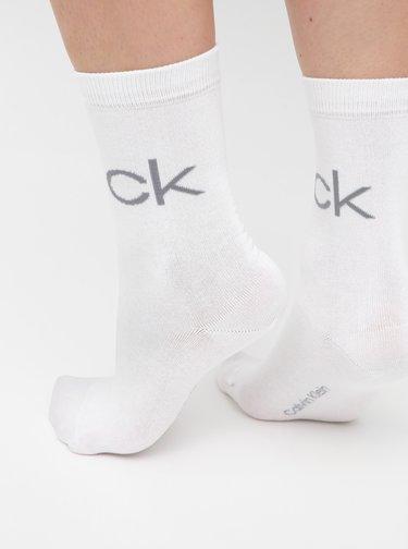 Sada dvou párů dámských bílých ponožek Calvin Klein Jeans
