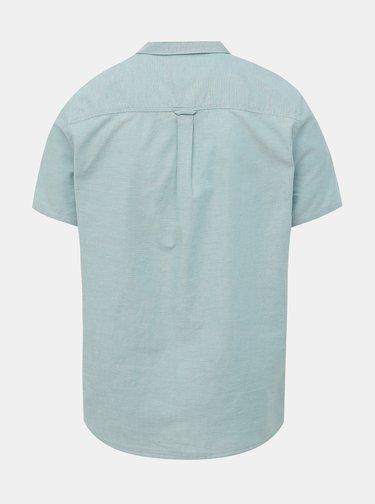 Modrá košile s krátkým rukávem Burton Menswear London