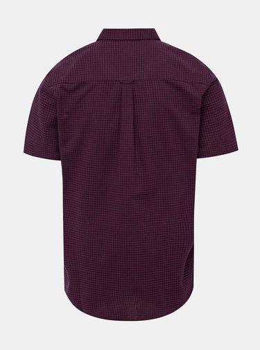Vínová kostkovaná košile Burton Menswear London