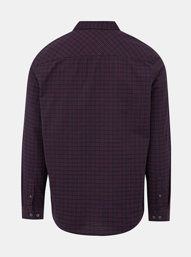 Modrá-vínová kockovaná košeľa Burton Menswear London