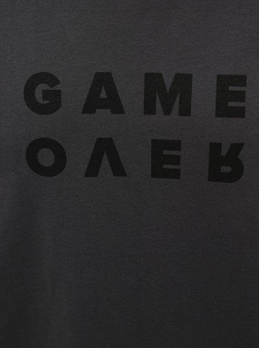Tmavě šedé pánské tričko s potiskem ZOOT Originál Game Over