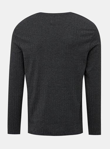Tmavě šedé basic tričko Burton Menswear London