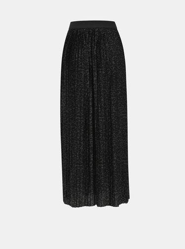 Černá maxi sukně s leopardím vzorem ONLY Disco