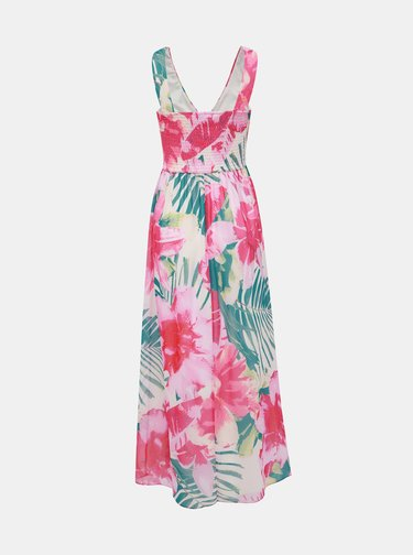 Růžové květované maxišaty Dorothy Perkins