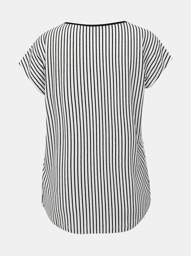 Čierno-biele vzorované tričko Yest