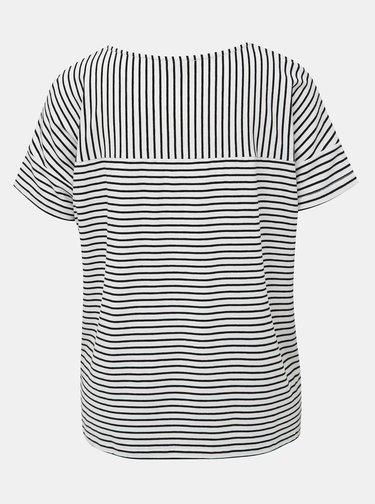 Černo-bílé pruhované tričko Yest