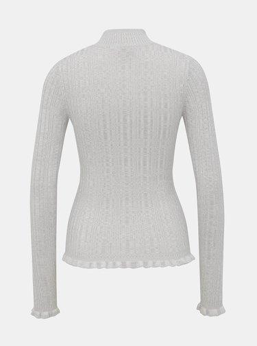 Šedý sveter so stojáčikom Miss Selfridge