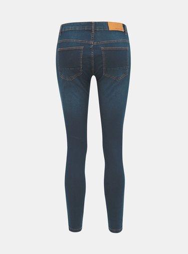 Tmavě modré zkrácené skinny fit džíny Noisy May Kimmy