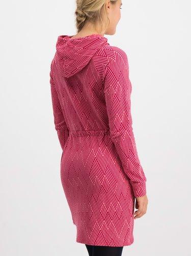 Rúžové vzorované mikinové šaty Blutsgeschwister Welcome home