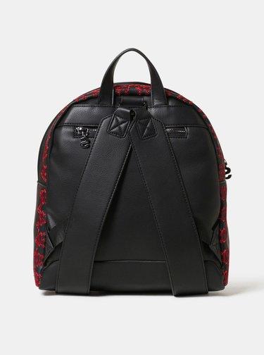 Černý batoh s vyšívaným vzorem Desigual