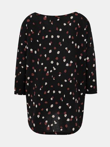 Čierny vzorovaný sveter ONLY Elcos