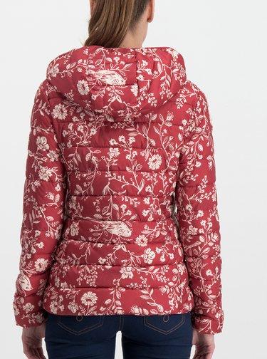 Červená vzorovaná prošívaná bunda Blutsgeschwister