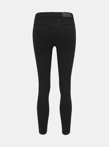 Černé zkrácené skinny fit džíny Noisy May Kimmy