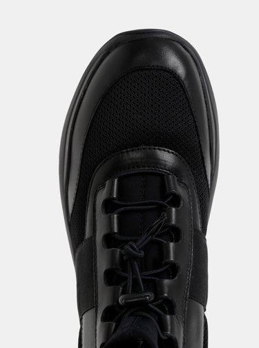 Černé dámské kožené kotníkové tenisky Vagabond Lexy