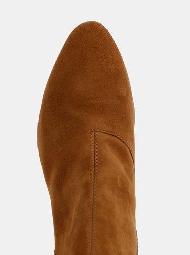 Hnedé dámske semišové kotníkové topánky Vagabond Olivia