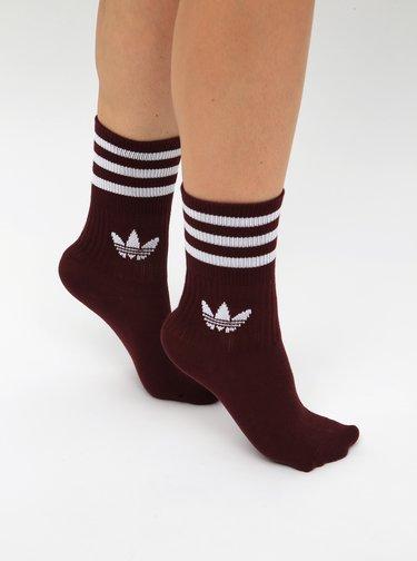 Sada tří párů dámských ponožek v růžové, vínové a bílé barvě adidas Originals