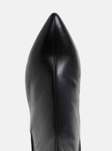 Čierne dámske kožené členkové topánky Vagabond Whitney