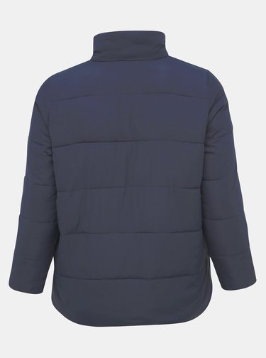 Tmavě modrá prošívaná bunda Zizzi Selma