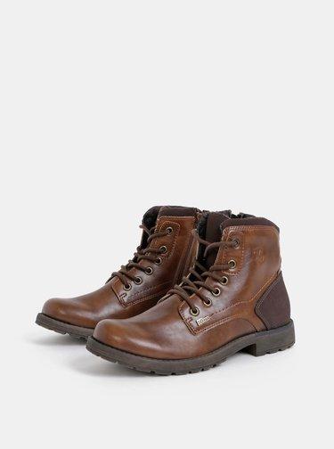 Hnedé pánske kotníkové nepromokavé topánky s.Oliver