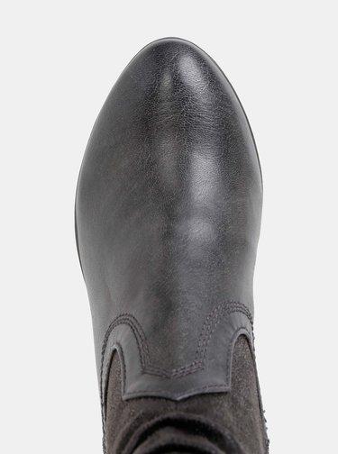 Tmavošedé dámske kotníkové topánky s.Oliver