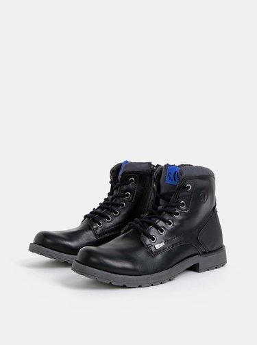 Čierne pánske kotníkové nepromokavé topánky s.Oliver