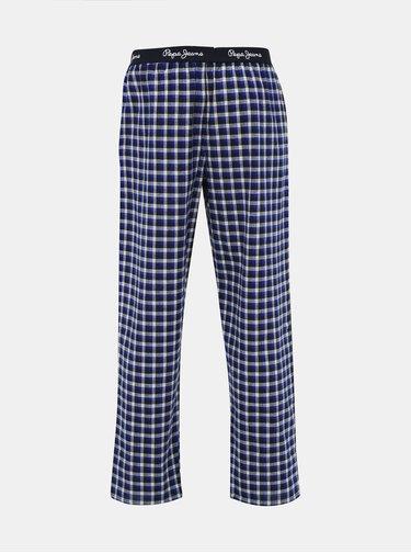 Modré pánské kostkované pyžamové kalhoty Pepe Jeans Kyle