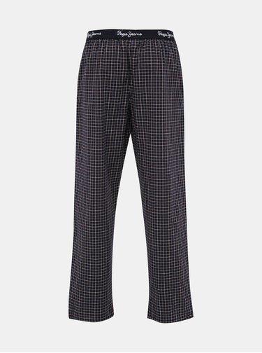 Tmavě modré pánské kostkované pyžamové kalhoty Pepe Jeans Lawley