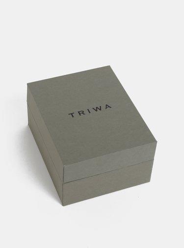 Hodinky s černým koženým páskem TRIWA Ivory Falken