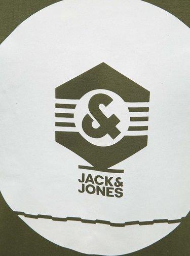 Zelená mikina s potiskem Jack & Jones Known