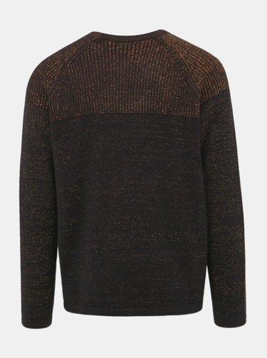 Černý žíhaný svetr ONLY & SONS Peer