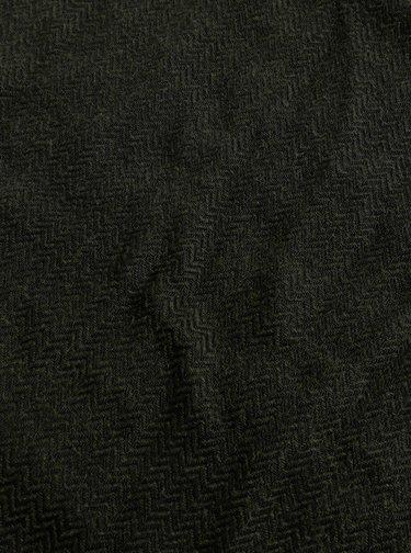 Tmavě zelená vzorovaná šála s příměsí vlny Selected Homme Per