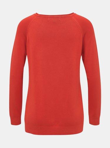 Červený basic svetr ZOOT