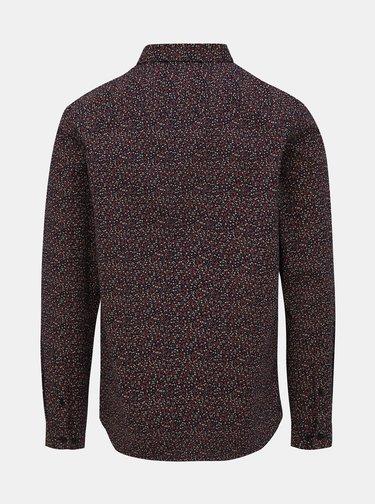 Vínová květovaná slim fit košile Jack & Jones Sander