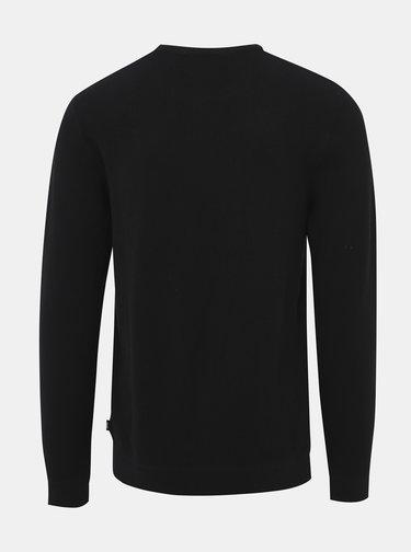 Čierny basic sveter Jack & Jones York