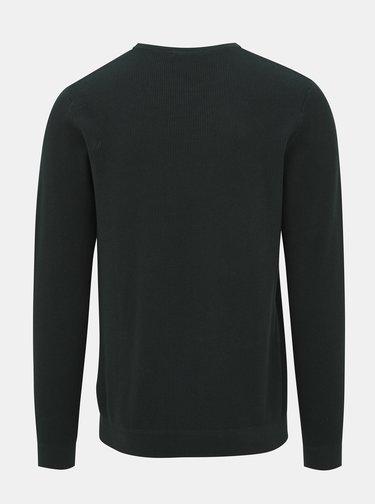 Tmavozelený basic sveter Jack & Jones York