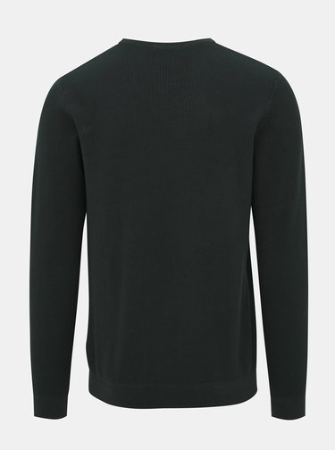 Tmavě zelený basic svetr Jack & Jones York