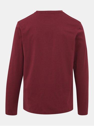 Vínové pánské basic tričko GANT
