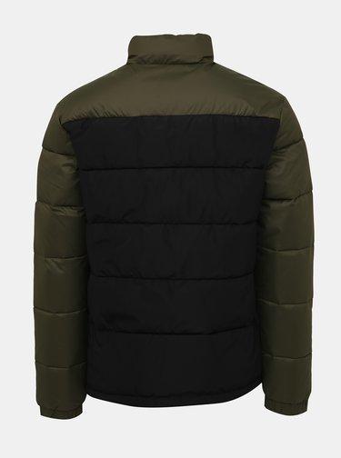 Čierno-kaki prešívaná bunda Jack & Jones Oscar