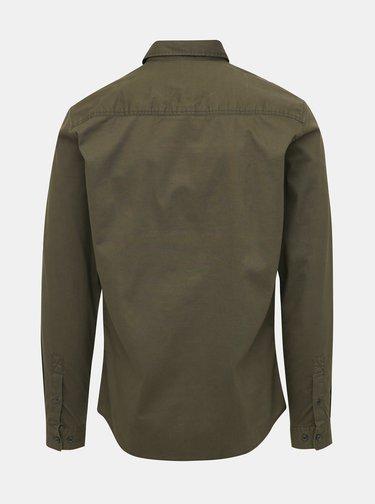 Khaki slim fit košile Jack & Jones Porter