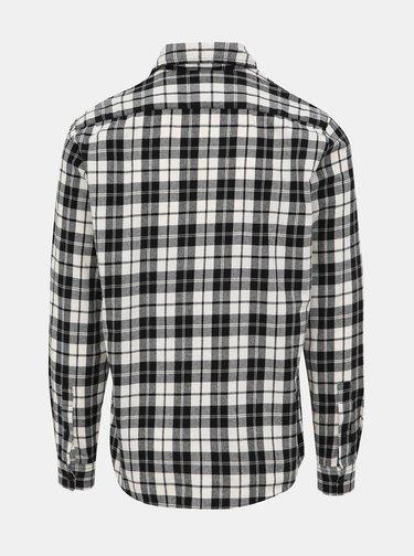 Černo-bílá kostkovaná slim fit košile Jack & Jones Jake