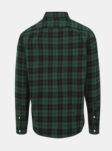 Tmavě zelená kostkovaná slim fit košile Jack & Jones Jake