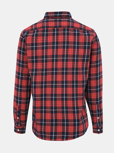Červená kostkovaná slim fit košile Jack & Jones Jake