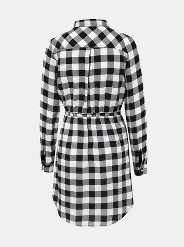 Černo-bílé kostkované košilové šaty Haily´s Wanda